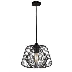 1 Light Cage Pendant - Matt Black BPOSL079
