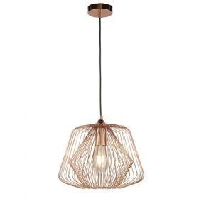 1 Light Cage Pendant - Shiny Copper BPOSL080