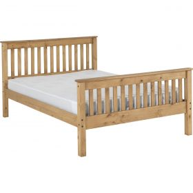 Newquay 4'6 Double Waxed Pine Bed Frame HFE