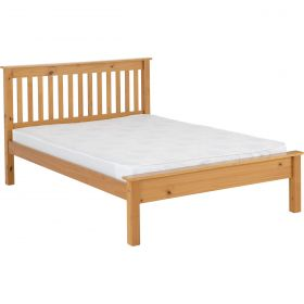 Newquay 4'6 Double Antique Pine Bed Frame LFE
