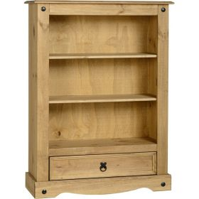 Waxed Pine Dining 1 Drawer Bookcase