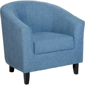 Taylor Tubs Tub Chair - Blue Fabric