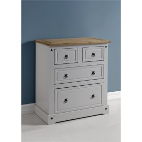 Waxed Pine Grey Painted Bedroom 2 + 2 Chest