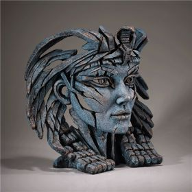 Edge Sculpture Cleopatra Bust Egyptian Blue