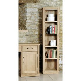Boston Oak Narrow Bookcase
