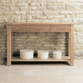 Boston Oak Console Table