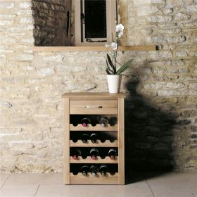 Boston Oak Wine Rack Lamp Table