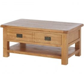 Oakhampton  Large Coffee Table + Drawer And Shelf