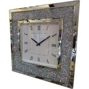 Clocks Square Glitzy Clock