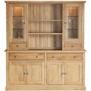 Bath Oak Large Complete Dresser