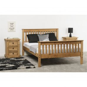 Newquay 5' Kingsize Waxed Pine Bed Frame HFE