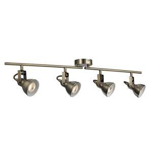 4 Light Spotlight Split-Bar, Antique Brass BPOSL267