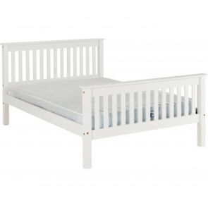 Newquay 4'6 Double White Bed Frame HFE