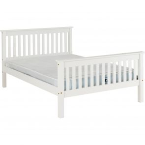 Newquay 5' Kingsize White Bed Frame HFE