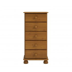 Thornton Pine 5 Drawer Narrow Chest