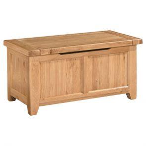 Chunky Oak Blanket Box