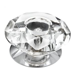 Big Pine Lighting  Flush - Downlighter - 1 Light Cc/Clear Diamond Glass BPOSL877