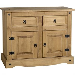 Waxed Pine Dining 2 Door 2 Drawer Sideboard