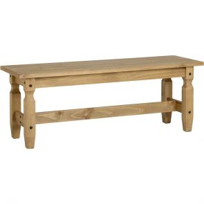 Waxed Pine Dining 4' Dining Bench