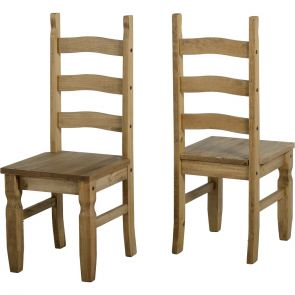 Waxed Pine Dining Chair (Pair)