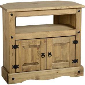 Waxed Pine Dining Corner Tv Cabinet
