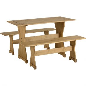 Waxed Pine Dining Dinette Set