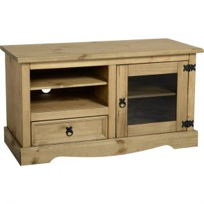 Waxed Pine Dining Entertainment Unit