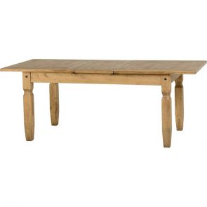 Waxed Pine Dining Extending Dining Table