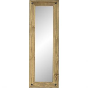 Waxed Pine Dining Long Wall Mirror