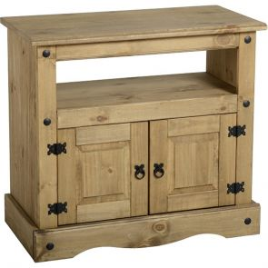 Waxed Pine Dining Tv Cabinet