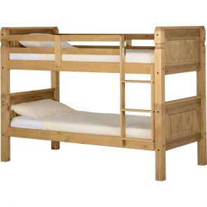 Waxed Pine Bedroom 3'0 Bunk Bed