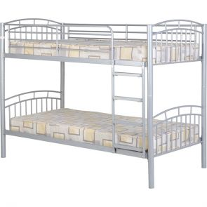 Ace Bunk 3'0 Metal Frame Bunk Bed Silver Or Black