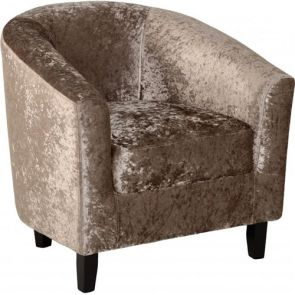 Taylor Tubs Tub Chair - Mink Crushed Velvet