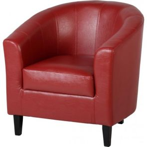 Taylor Tubs Tub Chair - Red PU