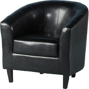 Taylor Tubs Tub Chair - Black PU