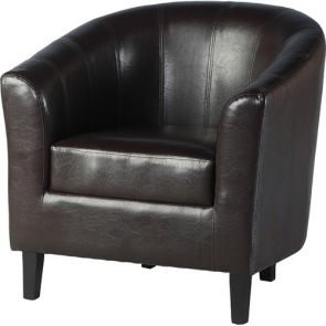 Taylor Tubs Tub Chair - Brown PU