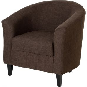 Taylor Tubs Tub Chair - Brown Fabric