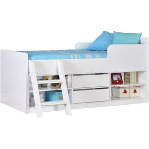 Denver Low Sleeper With Storage White