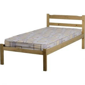 Waxed Pine Petite 3' Bedframe