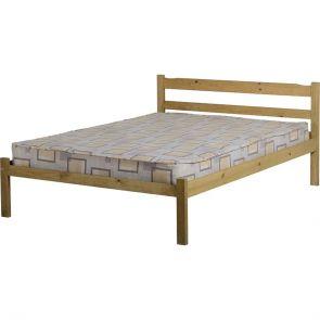 Waxed Pine Petite 4'6 Bedframe
