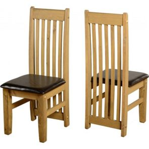 Tilla Pine Dining Chair - Black or Cream Pad