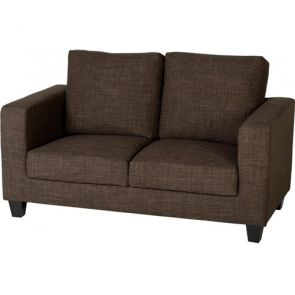 Cameron Sofas 2 Seater - Brown Fabric