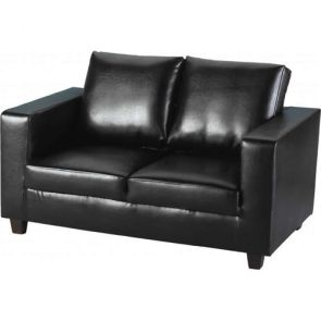 Cameron Sofas 2 Seater - Black PU Leather