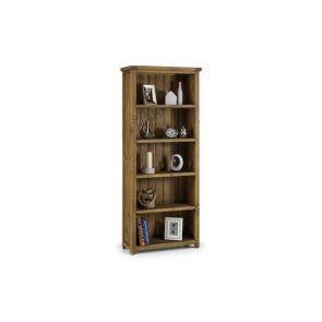 Rustic Pine Tall Bookcase