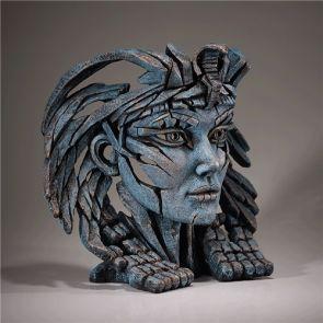 Edge Sculpture Cleopatra Bust Egyptian Blue