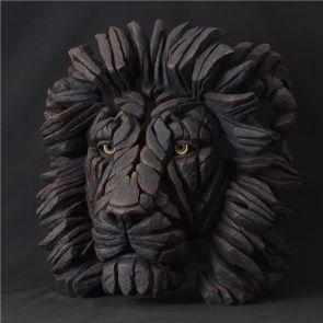 Edge Sculpture Lion Bust Black Limited Edition 250 Pieces