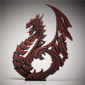 Edge Sculpture Heraldic Dragon Red