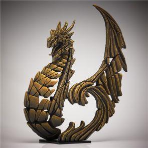 Edge Sculpture Heraldic Dragon Golden