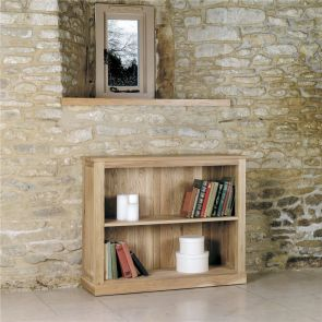 Boston Oak Low Bookcase
