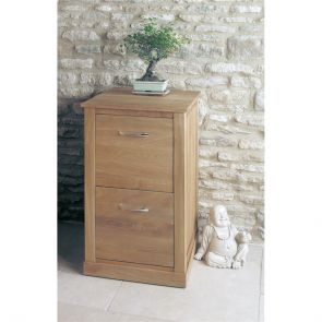 Boston Oak Two Drawer Filing Cabinet